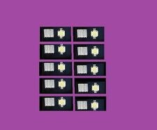COMBO OF 10 PIECE 10WATT 12V WHITE LED SMD CHIPS LIGHT + 10 PIECE HEAT SINKS