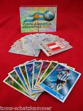 Panini Copa America 2011 alle 24 Glitzer Sticker incl. alle 12 Wappen komplett