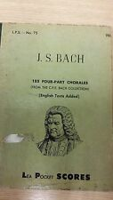 JS Bach: 185 Four Part Chorales: Music Score