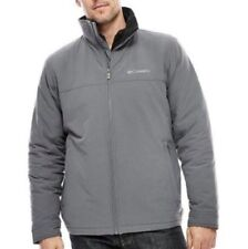 New Columbia Mens Timber Butte Insulated Gray Jacket Coat Size Small