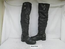 Simply Vera VERA WANG Black Zip Over the Knee Fashion Boots Size 9.5 M