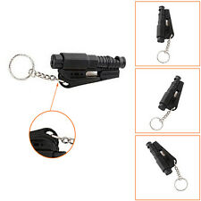 Black Chic Keychain Car Emergency Rescue Glass Breaker Seat Belt Cutter Hammer