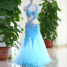 New Belly Dance Costume Set Bra Top Belt Skirt Dress Rio Carnival Bollywood 3PCS