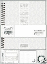 Docrafts Papermania Wedding Ever After scrapbook memory ALBUM book set 7.5x8.5""