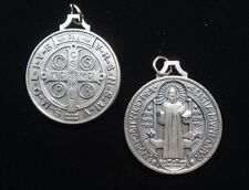 St. Benedict San Benito 1.50 inches Medal Silver Tone 14911
