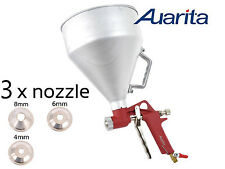 AUARITA Air Hopper Paint Spray Gun Gravity Feed Texture Construction Metal Cup