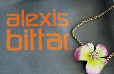 NORDSTROM ALEXIS BITTAR PINK YELLOW PANSY OPHELIA FLOWER GOLD BRACELET NWT