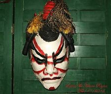 ARTISAN 80's LIFE FACE KABUKI MAN ORIGINAL SIGNED ONE OF A KIND DECOR/ WEAR MASK
