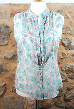 Camisa top tunica paisley CORTEFIEL talla 44/46 tunic shirt haut  tunique