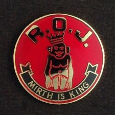 "Royal Order of Jesters ""Mirth Is King Lapel Pin"" (ROJ-4)"