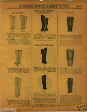 1915 PAPER AD Leather Napoleon Top Motorcycle Leggings