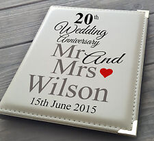 "Personalised 7x5"" x 36 photo album, memory book, 20th Wedding Anniversary gift"