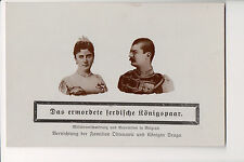 Vintage Postcard King Alexander I  & Queen Draga of Serbia