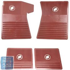 61-75 Buick Skylark / GS / Wildcat / Electra - 4 Rubber Floor Mats Set - Red