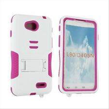 Future Armor Heavy Duty Pink Stand Box Case Cover For LG OPTIMUS L90 D415 D410