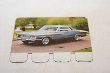 COOP PLAQUETTE METAL CARD 87 PLYMOUTH FURY 1962