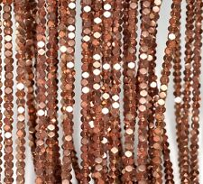 3X3MM ROSE GOLD HEMATITE GEMSTONE ÿFACETED RHOMBUS SQUARE LOOSE BEADS 16""