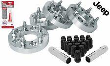 4 Jeep Wheel Spacers Adapters 1 inch Fits: KK, XJ, YJ, KJ, TJ , ZJ, MJ Models