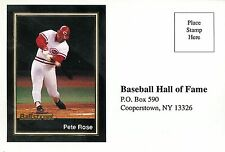 PETE ROSE ~ 1991 Ballstreet Vote For Pete Hall of Fame Color Postcard