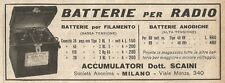 W2668 Batterie per radio Dott. Scaini - Pubblicità 1927 - Old advertising