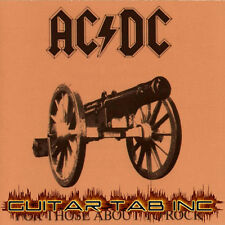 AC/DC Guitar Tab FOR THOSE ABOUT TO ROCK Lessons on Disc Angus Young