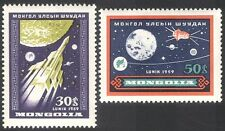 Mongolia 1959 Space/Rocket/Satellite/Moon/Planets 2v set (n27856)
