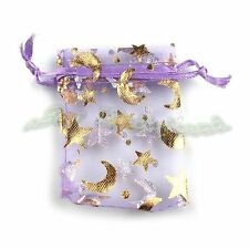 50x Wholesale Purple Organza Gift Package Bags Wedding Favor 120398