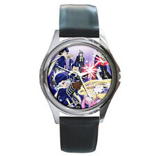 Tegami Bachi Black Leather Wrist watch