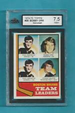 1974-75 TOPPS 28 Bobby Orr Boston Bruins Team Leader KSA 7.5 NM+!