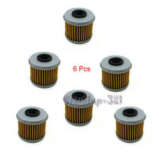 6Pcs Oil Filter For HONDA CRF150R CRF150F CRF250R CRF250X CRF450X CRF450R TRX450