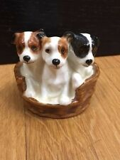 VINTAGE Royal Doulton 'TERRIER PUPPIES IN A BASKET'  HN-2588