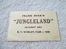 "1939  NYWF NEW YORK WORLDS FAIR  FRANK BUCK'S  ""JUNGLELAND"""