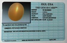 EGL USA CERTIFIED Natural Cat's-Eye Moonstone 11.84 Ct Oval Cabochon $1540