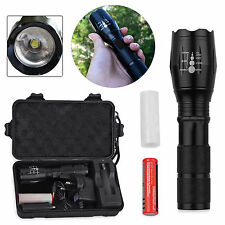 CREE T6 2000LM LED Zoomable Torch Lamp Flashlight +18650Battery + Charger + Case