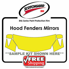 Kits for Toyota - 3M 846 Scotchgard Paint Protection Film - Hood Fender Tips Mir