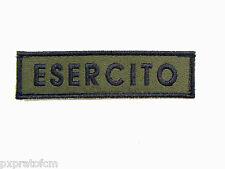 Patch Militare Esercito Verde per Mimetica Vegetata Italiana Toppa con Velcro