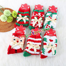 New 1 Pair Cozy Warm Soft Women Winter Autumn Home Christmas Festival Gift Socks