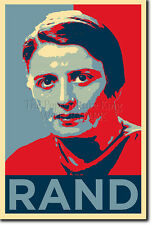 AYN RAND ART PHOTO PRINT 3 (OBAMA HOPE PARODY) POSTER GIFT QUOTE ATLAS SHRUGGED