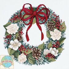 Cross Stitch Kit Janlynn Christmas Traditions Decorated Holiday Wreath #021-1415