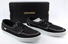 NIB CONVERSE Sea Star L/S OX Black Denim Skate Boat Shoes Men's 12 Women's 13.5
