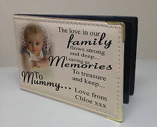 Personalised photo album, memory book, birthday christmas gift, family Mummy