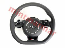 AUDI S5 STEERING WHEEL WITH AIRBAG DSG MLF WHITE STITCH 8K0419091DK 1080