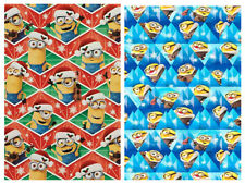DESPICABLE ME MINIONS GIFT WRAP WRAPPING PAPER ROLL CHRISTMAS HOLIDAY 40 SQ. FT