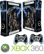 XBOX 360 ORIGINAL GRIM REAPER GOTHIC ANGEL DEATH STICKER SKIN COVER & 2 PAD SKIN