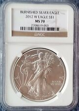 2012 W Silver Eagle Burnished NGC MS 70 West Point