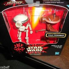 1998 Star Wars Episode 1 Mint Figures Pit Droids Fully Poseable ex/mt Box