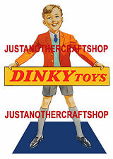 Dinky Toys Vintage 1950's Large A3 Size Poster Shop Display Sign Advert