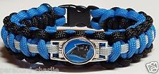 Carolina Panthers Blue, Black & Silver Paracord Bracelet or Lanyard or Key Chain