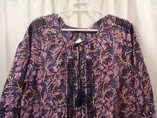 Women's Lucky Brand Embroidered  Blouse  Shirt  1X