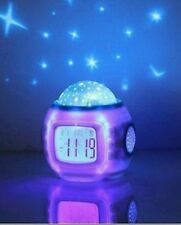 Baby Childrens kids Star sky Alarm clock Projector Night Light XMAS Gift present